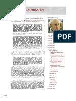 Quand Pierre Citron (1919-2010) Jugeait Robert Faurisson