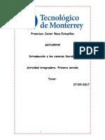 Actividad Integradora Primera Version Introduccion a Las Siencias Sociales