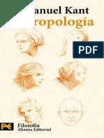 Antropología en Sentido Pragmático, Inmanuel Kant