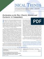 Ecumenical Trends June 2016