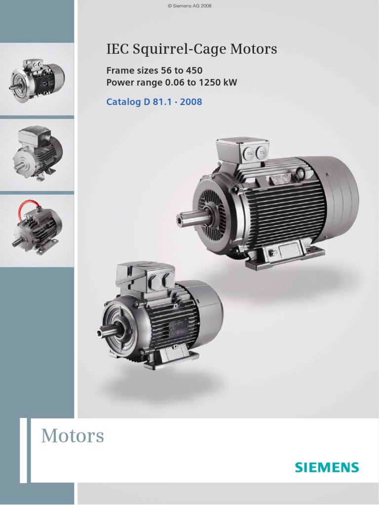 Siemens IEC Motor Catalog | Automation | Microsoft Windows