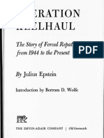 OPERATION KEELHAUL by Julius Epstein - Chapters 3, 6-8, 16