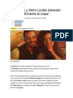 Luis Fonsi y Demi Lovato Estrenan Video De