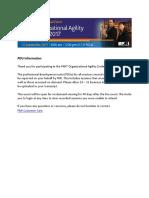 PMI Organizational Agility 2017 PDU Information v2