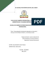 260 Comercialización de Artesanías Elaboradas Con Totora de La Parroquia de San Rafael de Otavalo y La Demanda en Italia