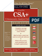 CompTIA CSA Cybersecurity Analyst Certification All in One Exam Guide CS0 001