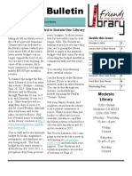 Friends of the Modesto Library Summer 2010 Newsletter