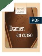 Cartel Examen