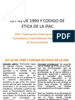 Ley 43 de 1990 y Codigo de Etica de La Ifac