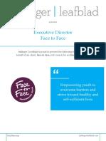 Position Profile - Face to Face - Executive Director