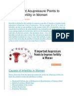 Acupressure Points to Improve Fertility in Women