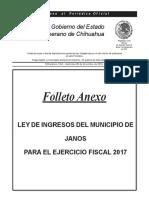 Ley de Ingresos Del Municipio Janos
