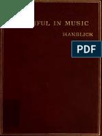 Edward Hanslick - The Beautiful in Music 1891