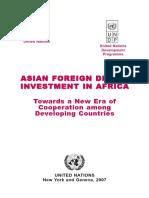 2007 UNDP Report on Asian FDI in Africa