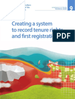 Creating a system to record tenure rights and first registration Governance of Tenure Technical Guide