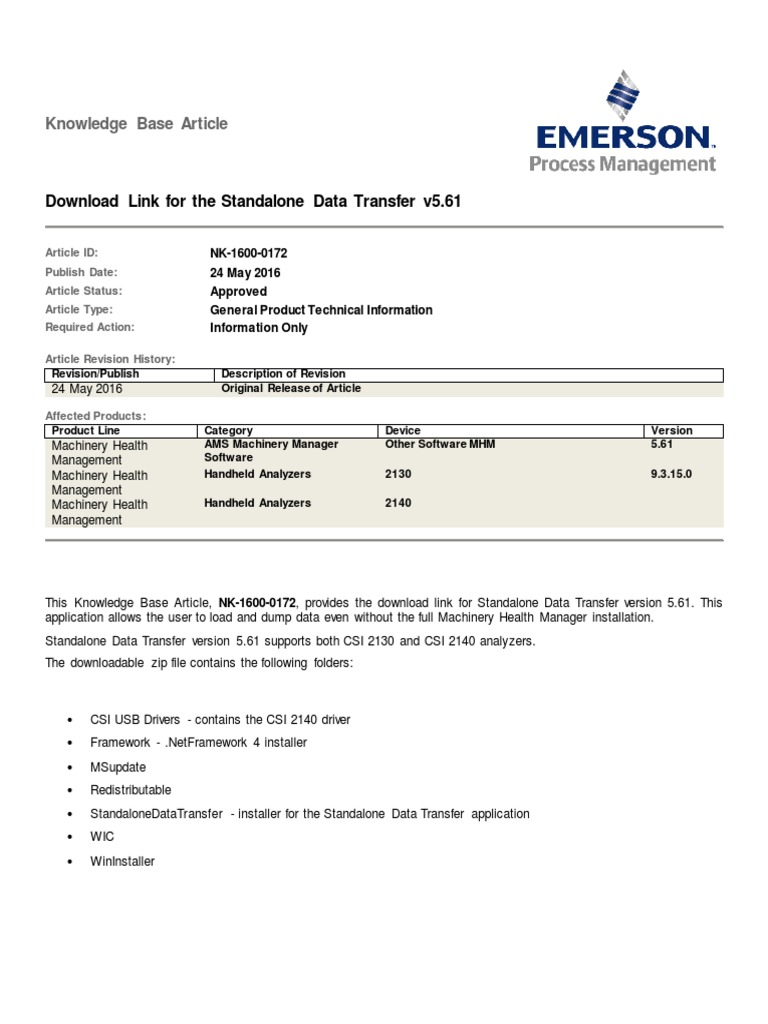 Emerson Csi 2130 Usb Driver
