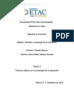 Teóricos Clásicos en La Sociología de La Educación
