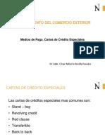 Carta de Crédito Especiales