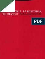 La memoria, historia, olvido.pdf