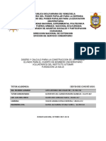 Servicio Comunitario - Diseño y Calculo Para Un Tanque de Almacenamiento de Agua Para El CBU IUTEMAR - La Salle
