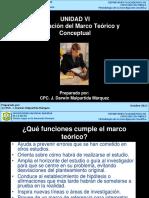 Unidad VI ElaboracionMarcoTeoricoConceptual 2013