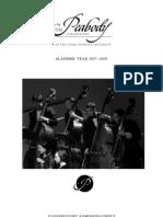 PBY Conservatory Catalog 2007 8