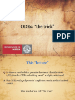 ODEs Trick