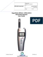Rotronic Hygropalm Manual Qc