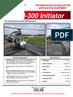 Model- HughesSchweizer Series 300 Helicopters Isolair Sprayer