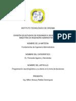Artículo 16 - Programación Neurolinguistica