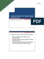 Simplex Method for Multivriable Optimization