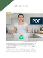 Cómo Reciclar La Basura en Casa
