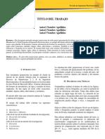 Formato - Presentación de Trabajos