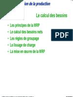 Cours 06 Planification de La Production MRP Material Requirements Planning