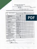 MS Delta Gravitron Maintenance Sheet