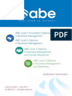 ABE Level 4 Diplomas - Launch June17