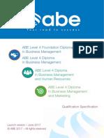 ABE Level 4 Diplomas - Launch June17
