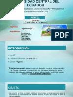 Grupo5-Ley Organica de La Salud