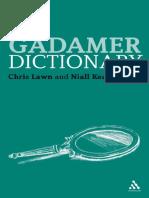 Gadamer diccionary