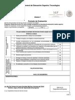 Formato de Evaluación DE SERVICIO SOCIAL