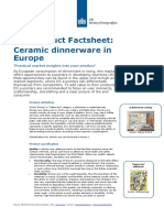 Product Factsheet Dinnerware Europe Home Decoration Textiles 2014
