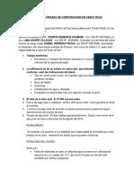 Contrato Privado de Construccion en Casco Gris