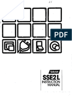 Manual for Esu v Sse2l