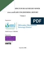 Port Washington Road Relief Sewer Vol I