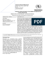 Hematological and Biochemical Profiles Research-Article