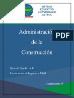 LINGC, 4to, Administración de La Construcción