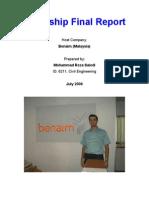 Intenship Final Report Benaim