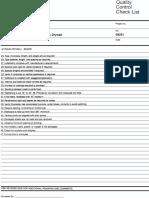 Quality Control Checklist--Gypsum Drywall
