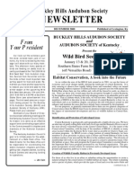 Winter 2000 Buckley Hills Audubon Society Newsletter