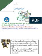 Metode Penelitian PWK, 2017 (2)
